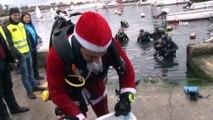 Noel Baba deniz dibinden bir torba çöp çıkardı