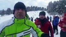 Cıbıltepe Kayak Merkezi'nde çok sayıda kişi mahsur kaldı (4) - KARS