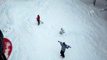 Cıbıltepe Kayak Merkezi'nde çok sayıda kişi mahsur kaldı (5) - KARS