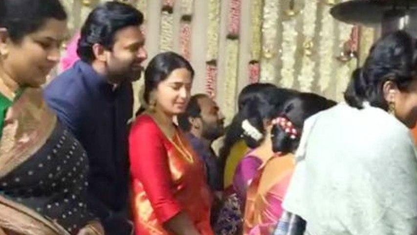 Prabhas, Anushka Shetty at SS Karthikeya's Wedding