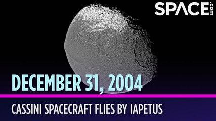 OTD in Space - Dec. 31: Cassini Spacecraft Flies by Iapetus