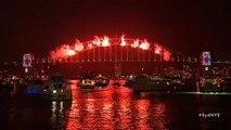 La baie de Sydney s'enflamme pour accueillir 2019