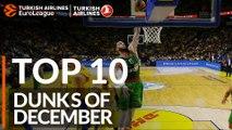 Turkish Airlines EuroLeague, Top 10 Dunks of December