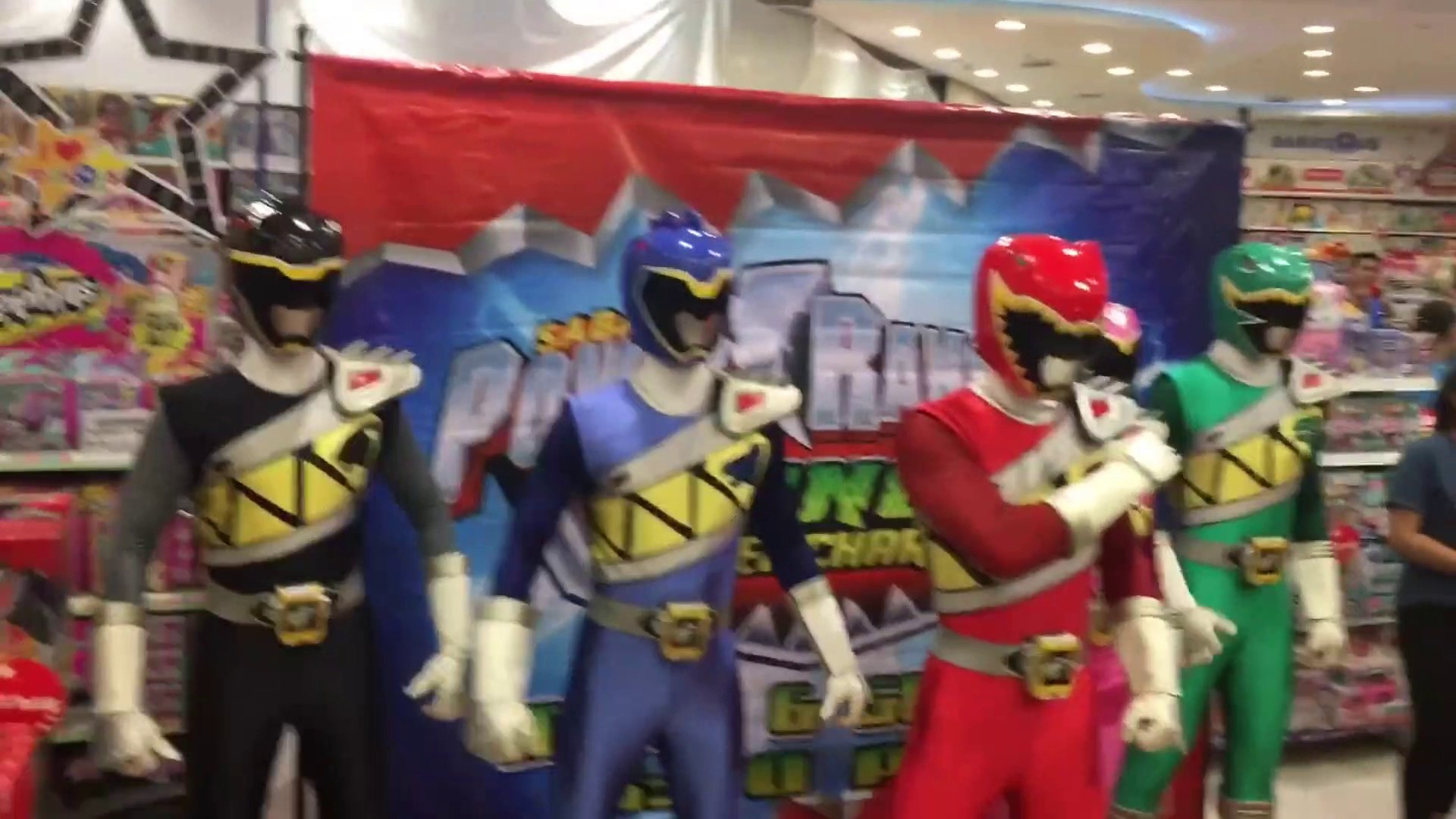 Power Rangers Dino Super Charge Meet Greet Characters Event