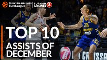 Turkish Airlines EuroLeague, Top 10 Assists of December