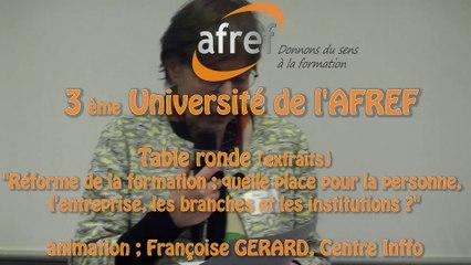 AFREF Université Table ronde (extraits)