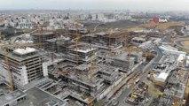Başakşehir Şehir Hastanesi'ndeki Son Durum Havadan Görüntülendi