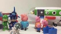 Peppa Pig Holiday Adventure Story w PJ Masks Catboy Gekko Owlette Paw Patrol || Keith's Toy Box