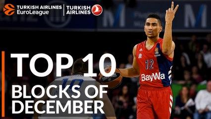 Turkish Airlines EuroLeague, Top 10 Blocks of December