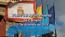 Pleno ordinario del Ayuntamiento de Carreño, Asturias 27 de diciembre 2018