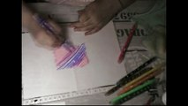 "DIY/Tuto - Fonds aquarelle et Tie and Dye / ATC Hippie avec Duo Aladine ""Scrapbooking"""