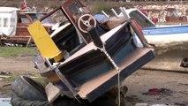 Antalya'da Dev Dalgalar Tekneleri Batırdı, O Bölge Havadan Görüntülendi