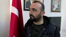 Belediye işçisinin Türk Bayrağı duyarlılığı...Odunların üzerine örtülü Türk bayrağını görünce böyle tepki gösterdi