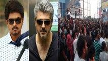 Vijay & Ajith fans fight : விஜய் - அஜித் ரசிகர்களிடையே சென்னை தியேட்டரில் மோதல் | Filmibeat Tamil