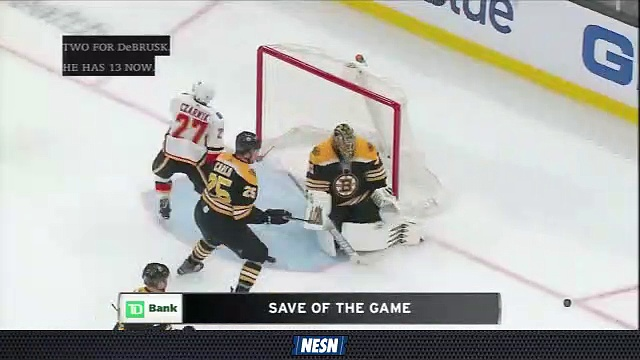 Jaroslav Halak Preserves Bruins Lead With Sliding Save On Austin Czarnik