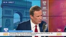 """Gilets jaunes: pour Nicolas Dupont-Aignan, Éric Drouet a """"peut-être pris trop de place"""""""