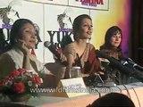 Yukta Mookhey at the Femina Miss World homecoming press conference