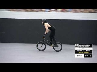 Declan Brooks 3rd place  - UCI BMX Freestyle Park World Cup Final | FISE World Series Chengdu 2018