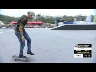 Ke'Chaud Johnson 3rd Place - Skateboard Street Final | FISE World Series Chengdu 2018