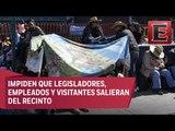 Campesinos bloquean San Lázaro por presupuesto