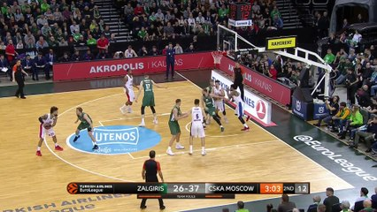 EuroLeague 2018-19 Highlights Regular Season Round 16 video: Zalgiris 79-84 CSKA