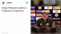 Diego Maradona admis dans un hôpital de Buenos Aires