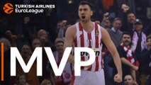 Turkish Airlines EuroLeague Regular Season Round 16 MVP: Nikola Milutinov, Olympiacos Piraeus