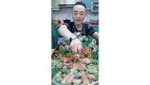 EATING SHOW COMPILATION-CHINESE FOOD-MUKBANG-challenge-Beauty eat strange food-asian food-NO.220