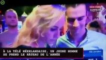 À la télévision néerlandaise, un jeune homme se prend le râteau de l'année (vidéo)