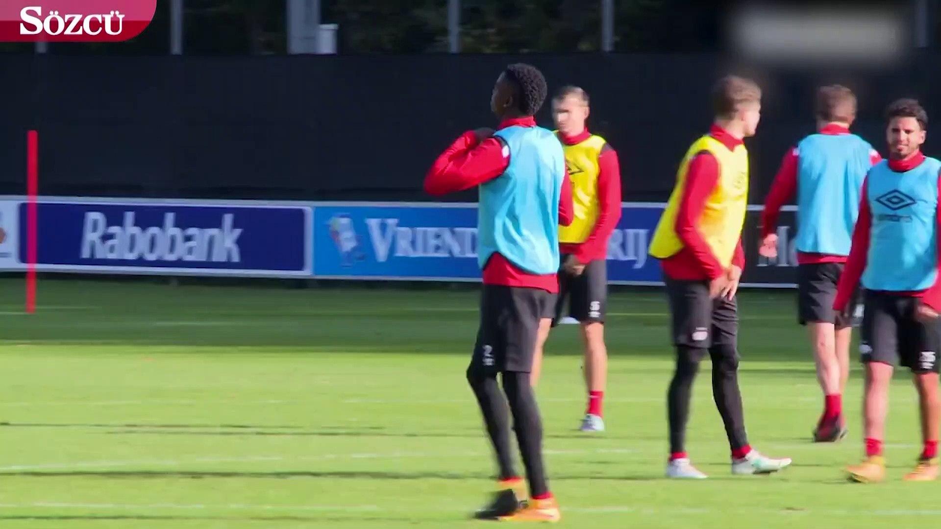 Cocu'nun Beşiktaş'ın yeni transferi Mirin'e tenis topu ile antrenmanı