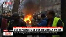 Gilets Jaunes - Péniche en feu sur la Seine, scooters en flamme boulevard Saint Germain : Regardez les images chocs à Paris