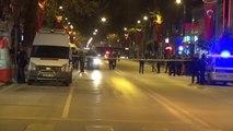 Malatya'da Trafik Işıklarına Asılı Çanta Fünye ile Patlatıldı