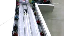 Saut à ski : la belle casquade du sauteur à ski kazakh Sabirzhan Muminov
