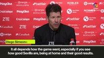 Eng Sub: Simeone praises Atletico Madrid reaction in second half vs Sevilla