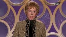Carol Burnett lors de la réception de son prix d'honneur - Golden Globes 2019