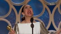 Sandra Oh reçoit le Golden Globe de la meilleure actrice la série dramatique KILLING EVE - Golden Globes 2019