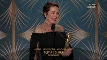 Olivia Colman remporte le prix de la meilleure actrice dans une comédie - Golden Globes 2019