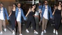 Deepika Padukone & Ranveer Singh in Casual Look at Mumbai Airport; Watch Video | Boldsky