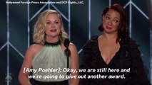 Amy Poehler And Maya Rudolph Stage Fake Proposal While Presenting At The Golden Globes