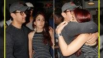 Aamir Khan HUGS his daughter Ira Khan during event; Watch Video   FilmiBeat