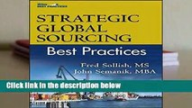 Strategic Global Sourcing Best Practices (Best Practices (John Wiley   Sons))