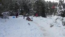 Yazın Sahili Kışın Dağlarıyla Antalya'da Kar Keyfi...kar Yağışını Fırsat Bile Vatandaşlar Doyasıya...