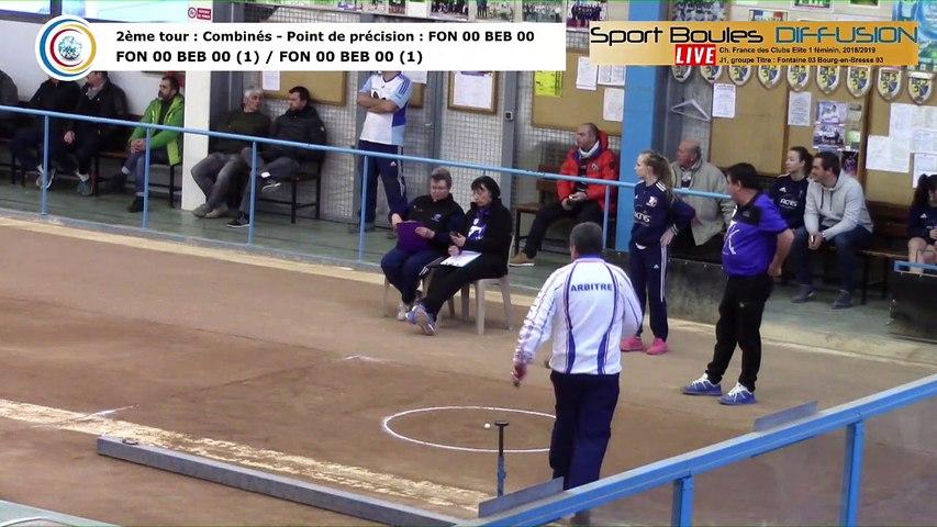 Second tour, point de précision, France Club Elite 1 Féminin, J1 groupe Titre,  Fontaine contre Bourg-en-Bresse,  saison 2018/2019