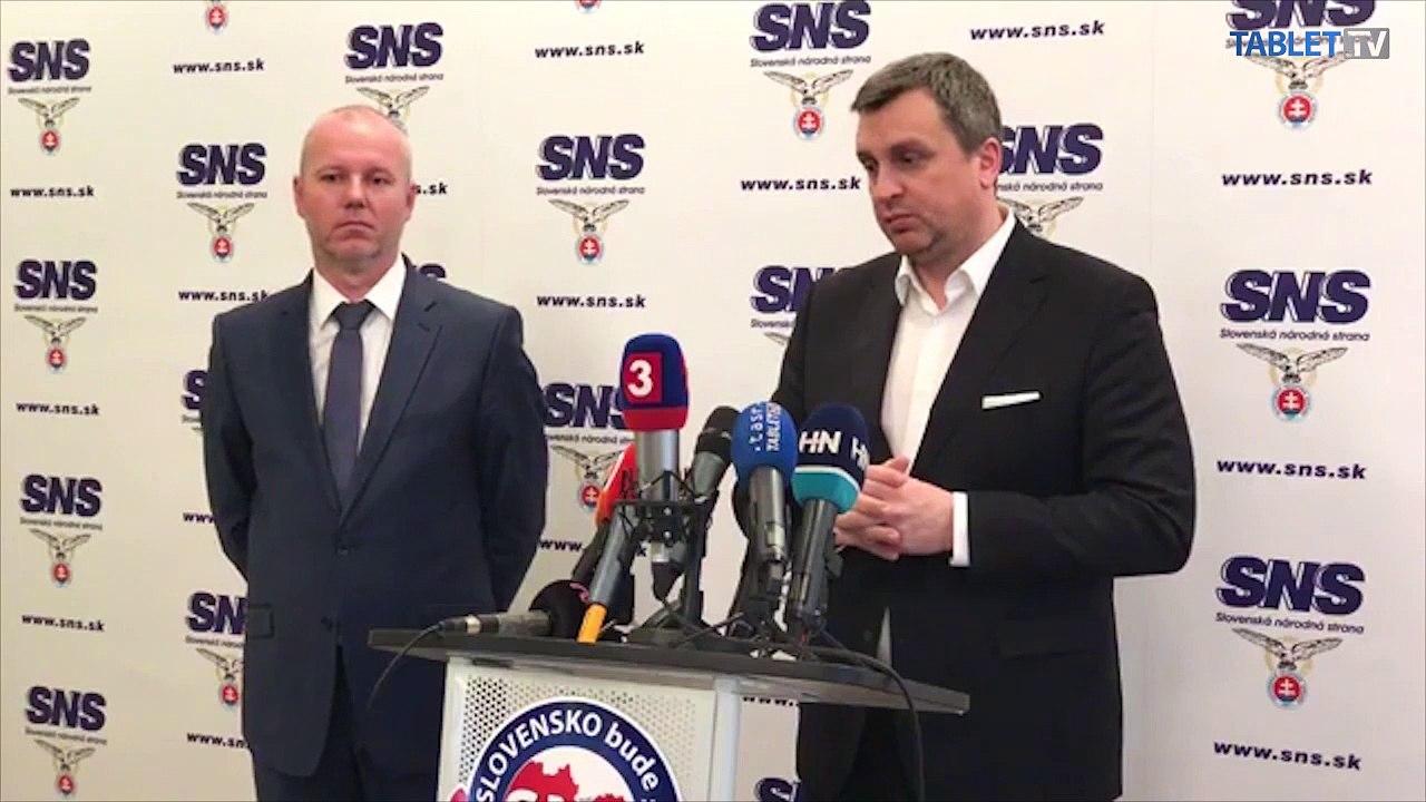 ZÁZNAM: TK predsedu SNS Andreja Danka
