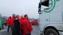 Action des syndicats au poste-frontière de Rekkem ce lundi 7 janvier 2019