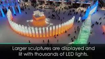 Harbin's amazing ice sculptures lit with thousands of LEDs