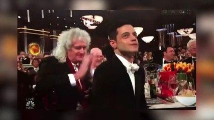 El gesto de Brian May a Rami Malek en los Globos de Oro 2019