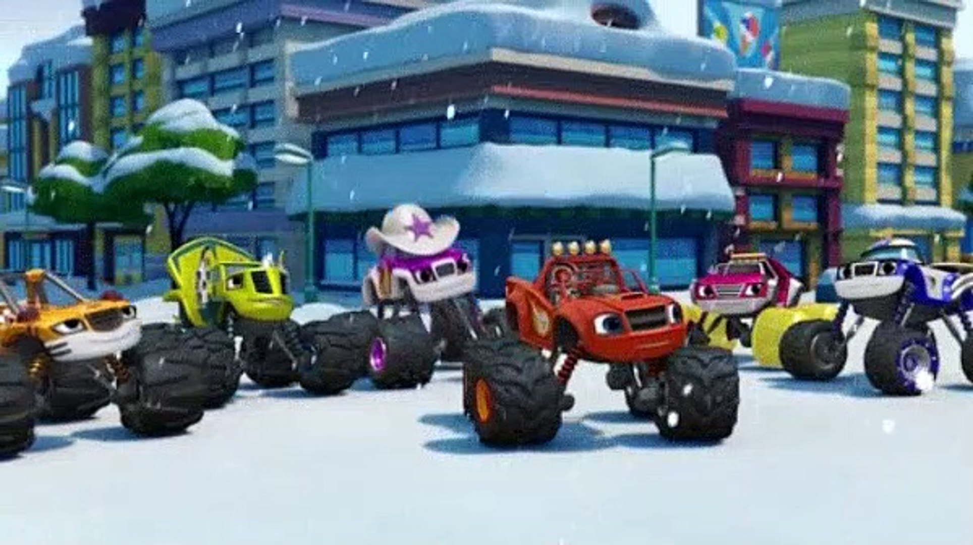 Blaze And The Monster Machines S04e12 Snow Day Showdown