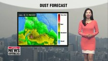 Dusty in most areas but will get better by the afternoon, colder in the afternoon _ 010819