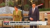 Korean-Canadian actress Sandra Oh makes history at Golden Globes